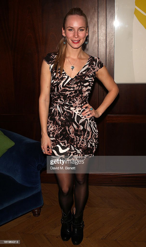 Holly Weston attends a drinks reception celebrating the new co-production agreement between Anchor Bay Films and Richwater Films at The Groucho Club on September 26, 2013 in London, England.