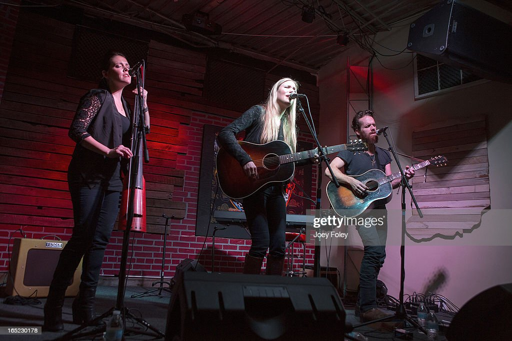 Holly Williams and Chris Coleman performs in concert at Do317 Lounge on March 29, 2013 in Indianapolis, Indiana.