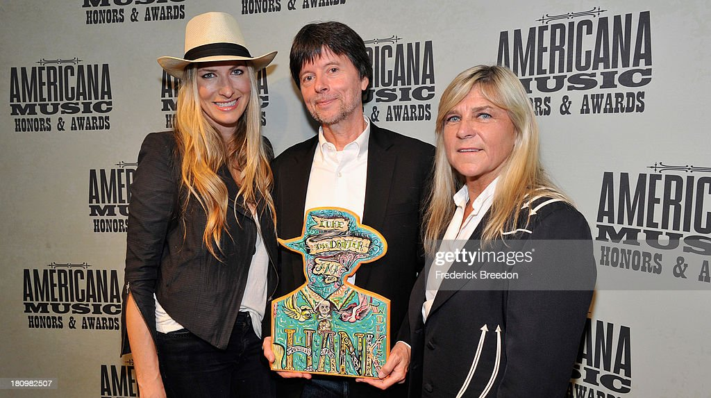 Holly Williams, filmmaker Ken Burns, and Jett Williams backstage at the 12th Annual Americana Music Honors And Awards Ceremony Presented By Nissan on September 18, 2013 in Nashville, Tennessee.