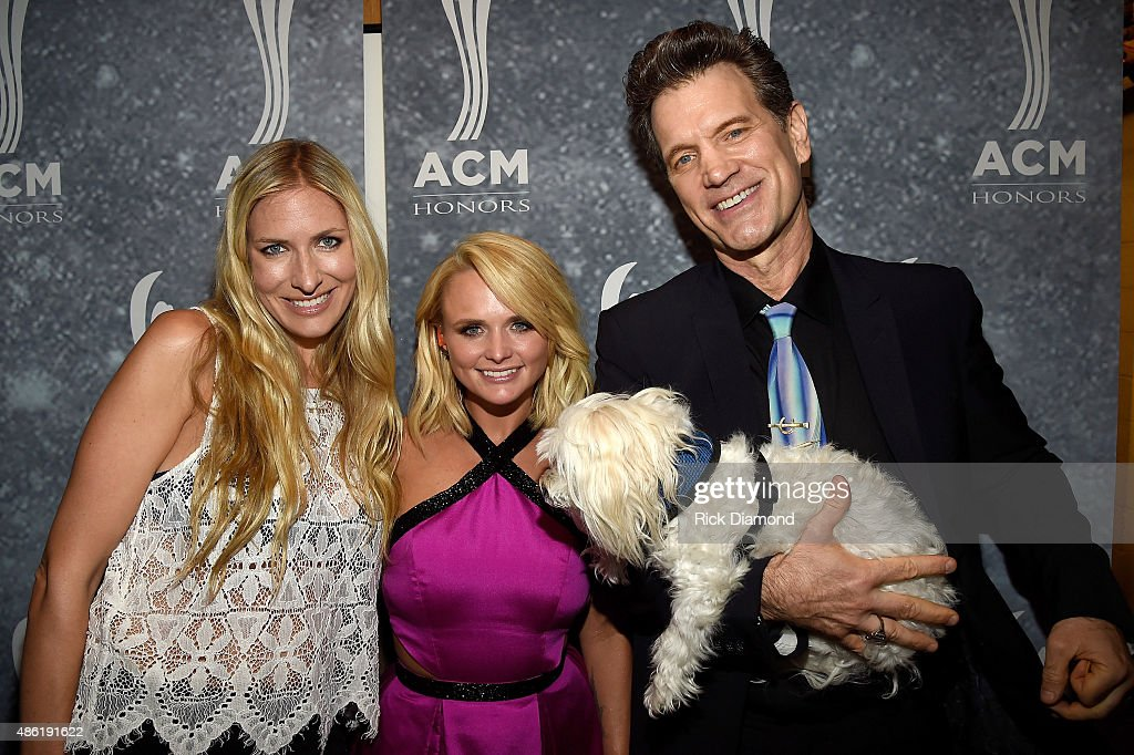 Holly Williams Miranda Lambert and Chris Isaak perform backstage during the 9th Annual ACM Honors at the Ryman Auditorium on September 1 2015 in...