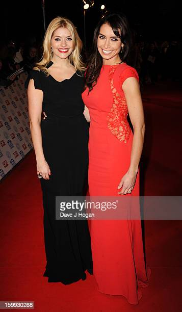Holly Willoughby and Christine Bleakley attend the National Television Awards 2013 at The O2 Arena on January 23 2013 in London England