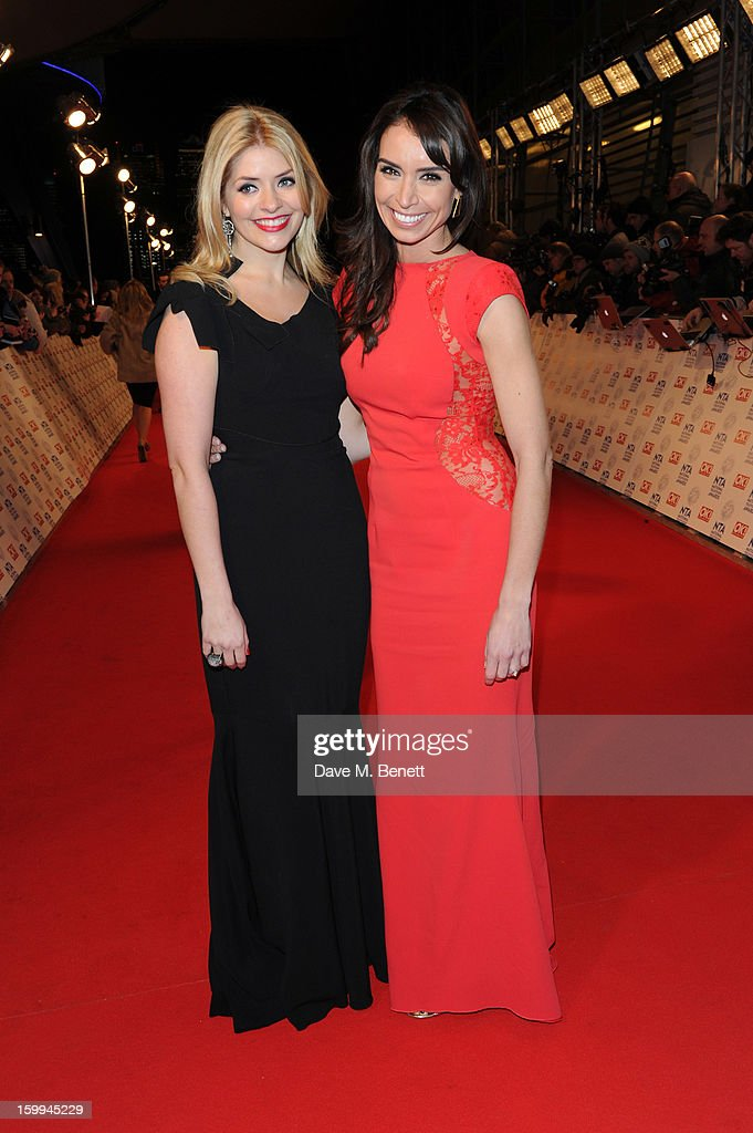 Holly Willoughby and Christine Bleakley attend the the National Television Awards at 02 Arena on January 23, 2013 in London, England.