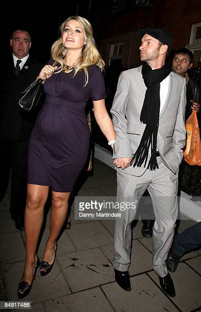 Holly Willoughby and husband attend the Brit Awards 2009 Universal party at Claridge's Hotel on February 18 2009 in London England