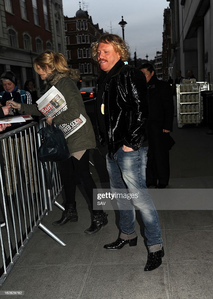Holly Willoughby and Keith Lemon pictured at Radio 1 on March 28, 2013 in London, England.