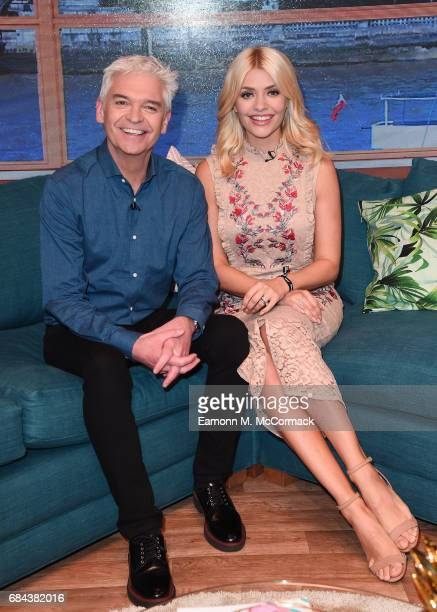 Holly Willoughby and Phillip Schofield during 'This Morning' Live at NEC Arena on May 18 2017 in Birmingham England