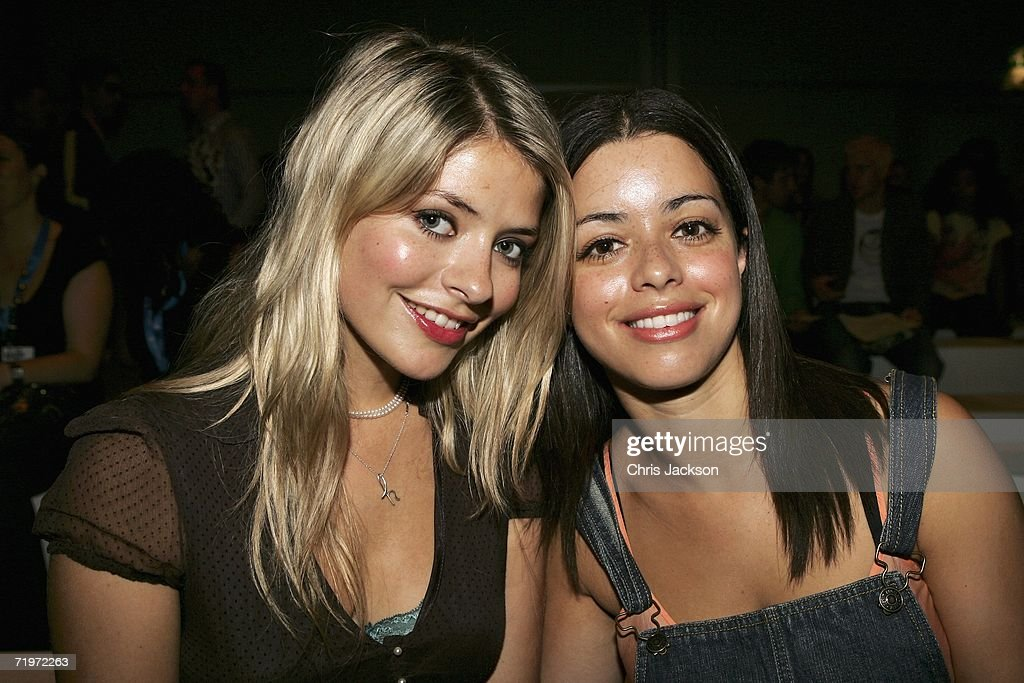 Holly Willoughby and Tina Barrett sit in the audience during the BRude Fashion show as part of London Fashion Week Spring/Summer 2007 in the BFC tent...