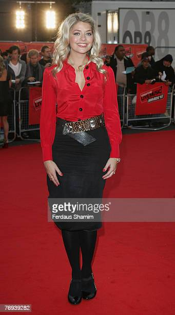 Holly Willoughby arrives for the Vodafone Live Music Awards in Earls Court on September 19 2007 in London England