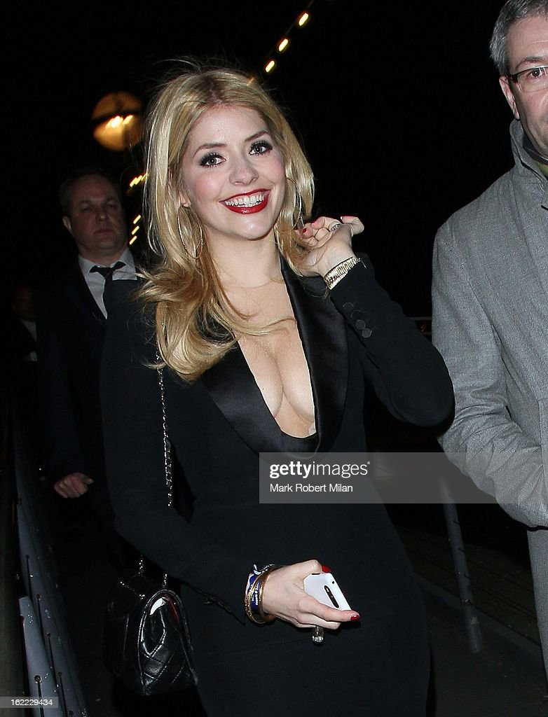 Holly Willoughby at the Warner Music in association with Vanity Fair BRITs aftershow party at The Savoy Hotel on February 20, 2013 in London, England.