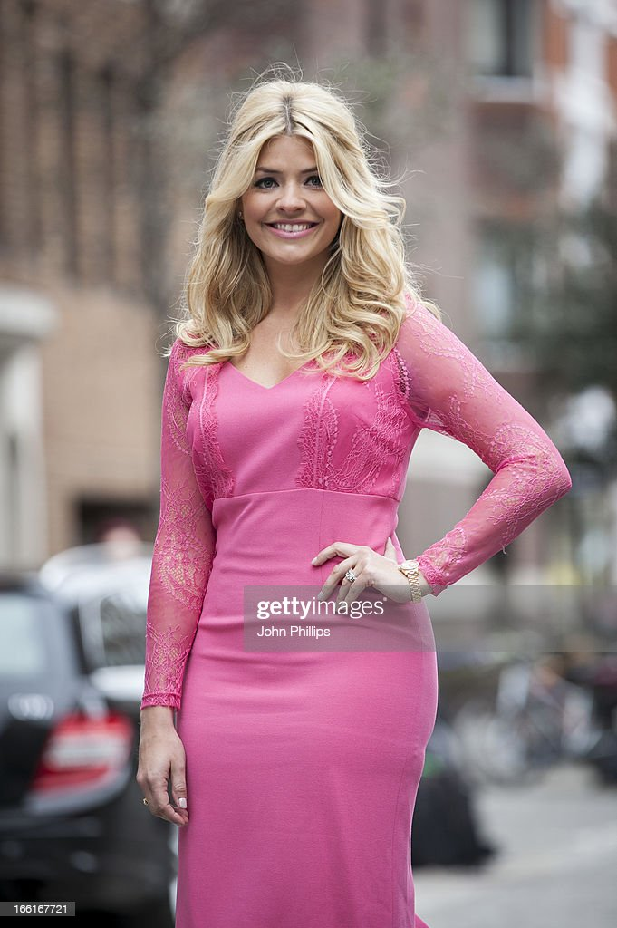Holly Willoughby attends a photocall to launch her SS13 collection for Verycouk at Claridges Hotel on April 9 2013 in London England