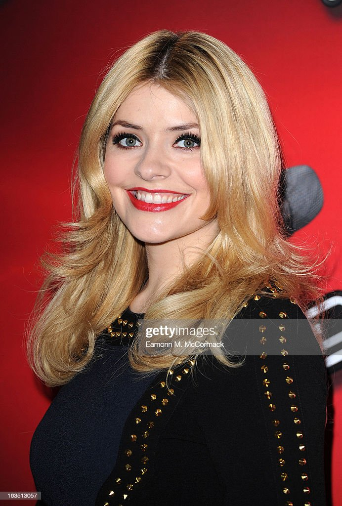 <a gi-track='captionPersonalityLinkClicked' href=/galleries/search?phrase=Holly+Willoughby&family=editorial&specificpeople=212941 ng-click='$event.stopPropagation()'>Holly Willoughby</a> attends a photocall to launch the second series of The Voice at Soho Hotel on March 11, 2013 in London, England.