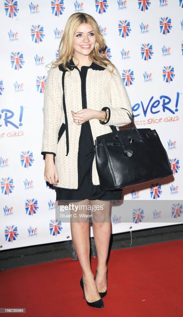 Holly Willoughby attends the after party for the press night of 'Viva Forever', a musical based on the music of The Spice Girls at Victoria Embankment Gardens on December 11, 2012 in London, England.