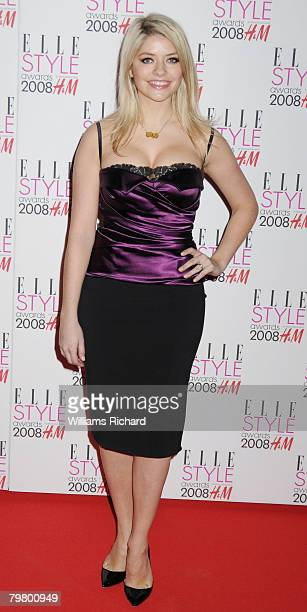Holly Willoughby attends the Elle Style Awards 2008 at the Westway off Latimer Road on February 13 2008 in London England