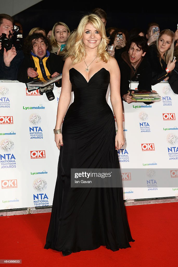 Holly Willoughby attends the National Television Awards at 02 Arena on January 22 2014 in London England