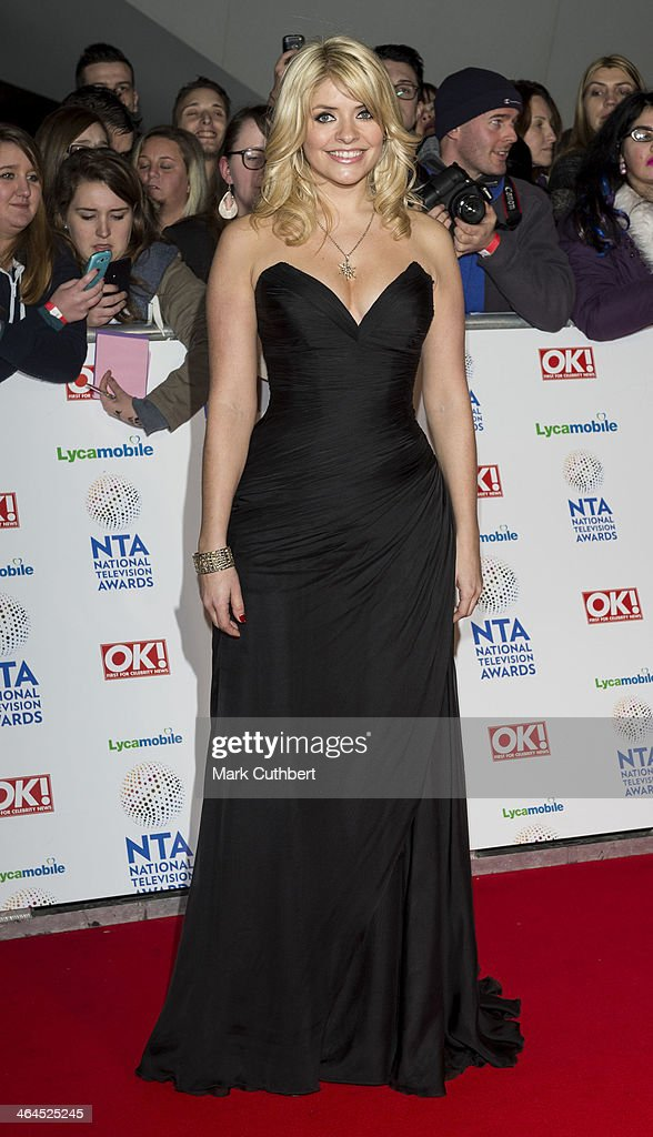 Holly Willoughby attends the National Television Awards at 02 Arena on January 22, 2014 in London, England.