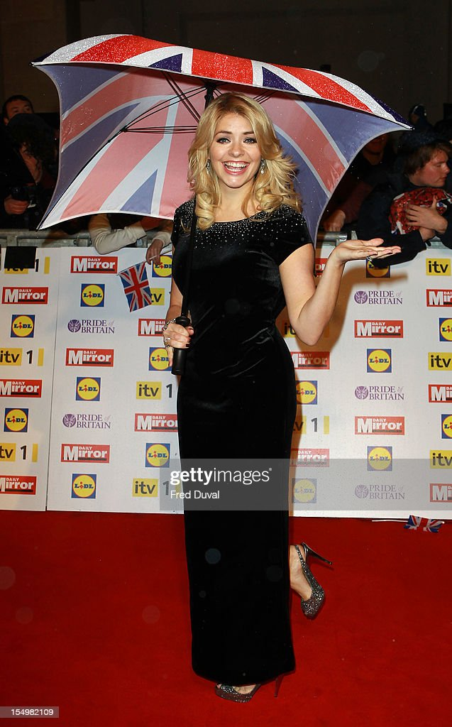 Holly Willoughby attends the Pride Of Britain awards at Grosvenor House, on October 29, 2012 in London, England.
