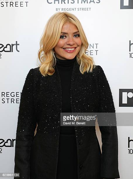 Holly Willoughby attends the Regent Street Christmas Lights switch on event with Heart at Regent Street on November 17 2016 in London England