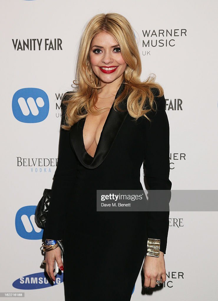 Holly Willoughby attends the Warner Music Group Post BRIT Party In Association With Samsung at The Savoy Hotel on February 20, 2013 in London, England.