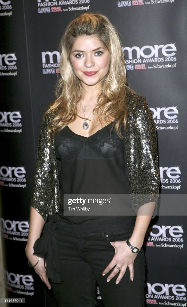 Holly Willoughby during 'more' Fashion Awards 2006 Arrivals at Koko in London Great Britain