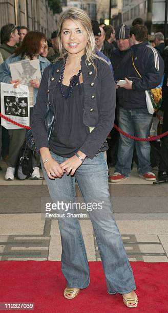 Holly Willoughby during 'Movin' Out' London Premiere Outside Arrivals at Apollo Victoria Theatre in London Great Britain