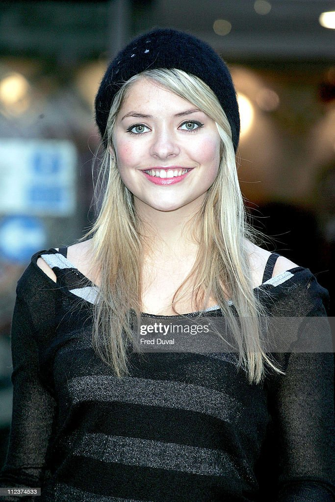 Holly Willoughby during Shetland Pony Visits Great Ormond Street Photocall December 12 2005 at Great Ormond Street Hospital in London Great Britain