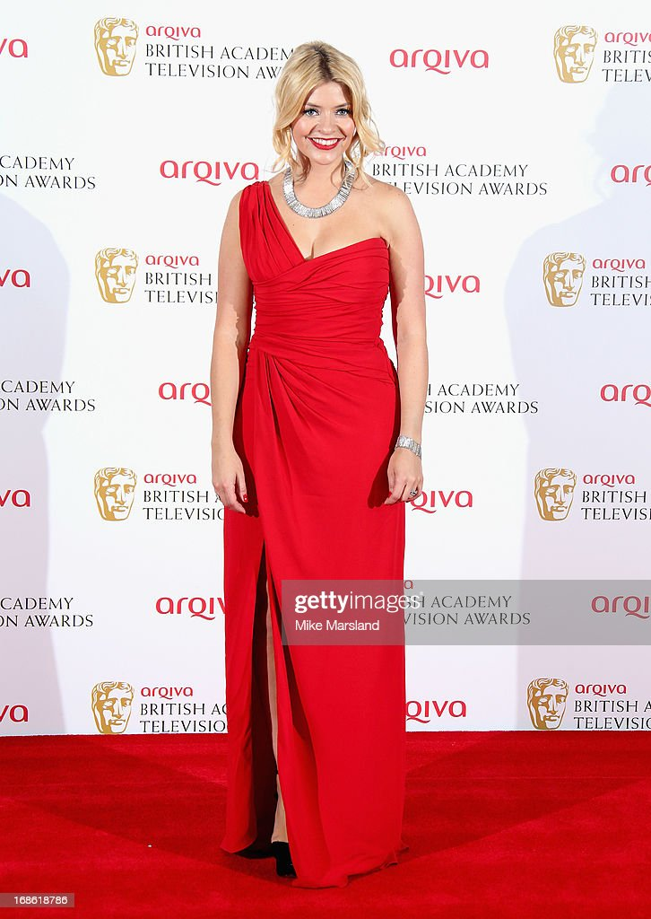 Holly Willoughby during the Arqiva British Academy Television Awards 2013 at the Royal Festival Hall on May 12, 2013 in London, England.