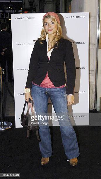 Holly Willoughby during Warehouse Store ReLaunch Party September 28 2005 at Argyll Street in London Great Britain