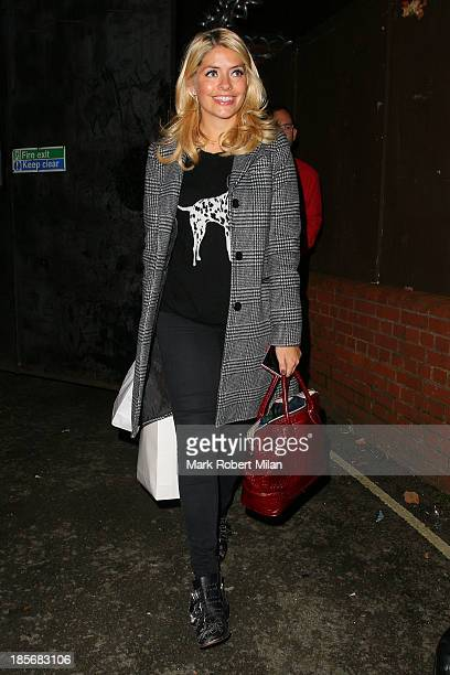 Holly Willoughby leaving Riverside studios after filming Celebrity Juice on October 23 2013 in London England