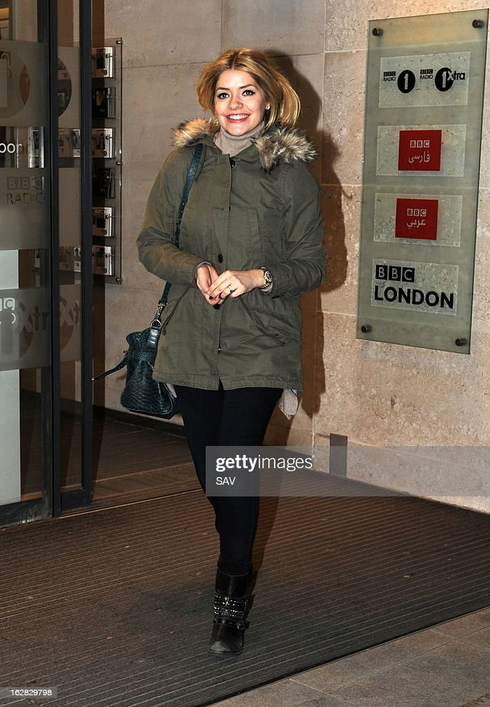 Holly Willoughby pictured at Radio 1 on February 28, 2013 in London, England.
