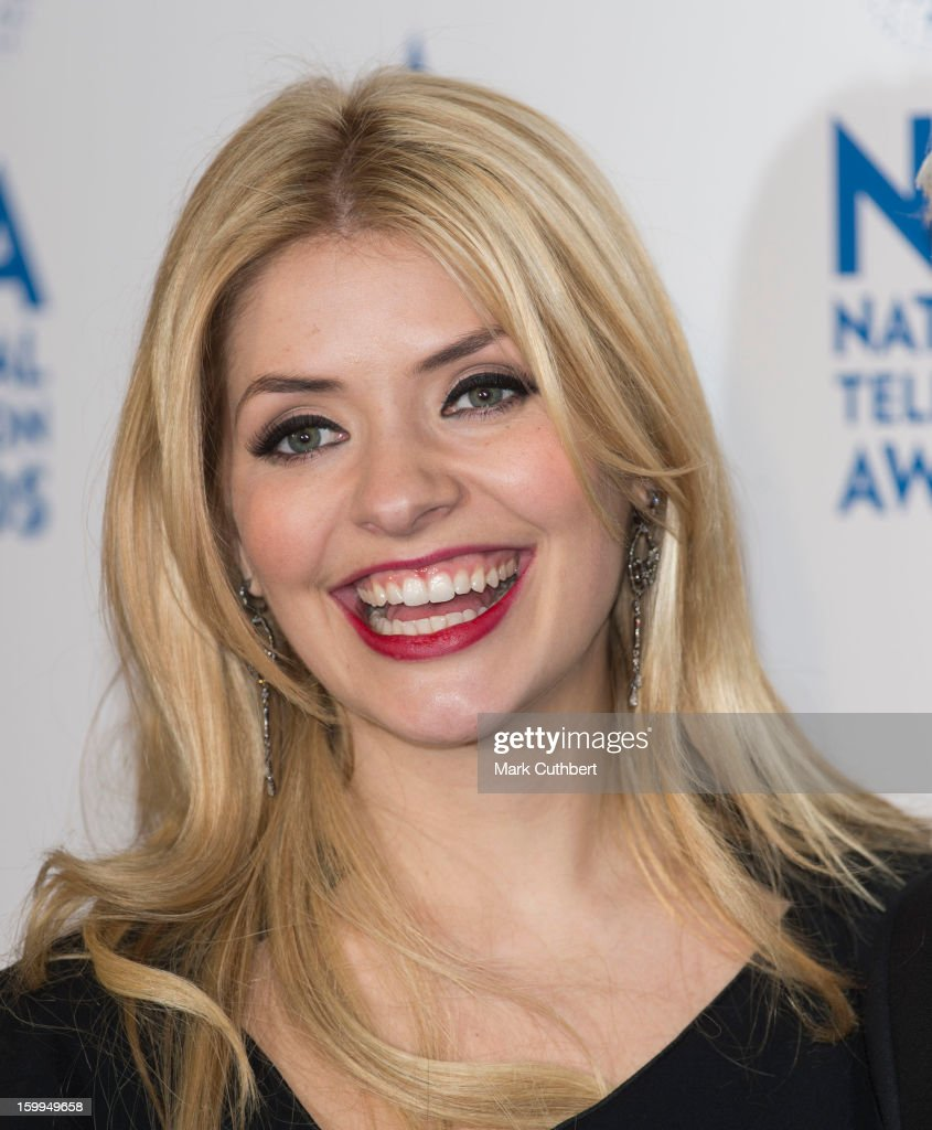 Holly Willoughby poses in the Winners room at the National Television Awards at 02 Arena on January 23, 2013 in London, England.