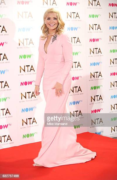 Holly Willoughby poses in the winners room at the National Television Awards at The O2 Arena on January 25 2017 in London England