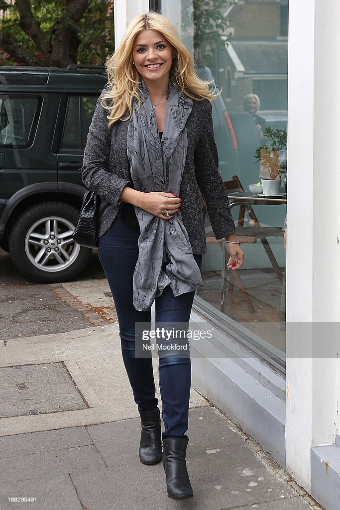 Holly Willoughby seen arriving at Riverside Studios to film Celebrity Juice on May 8, 2013 in London, England.