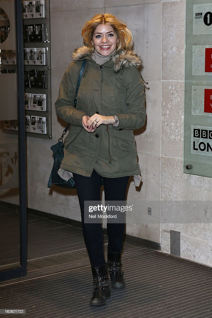 <a gi-track='captionPersonalityLinkClicked' href=/galleries/search?phrase=Holly+Willoughby&family=editorial&specificpeople=212941 ng-click='$event.stopPropagation()'>Holly Willoughby</a> seen at BBC Radio One on February 28, 2013 in London, England.