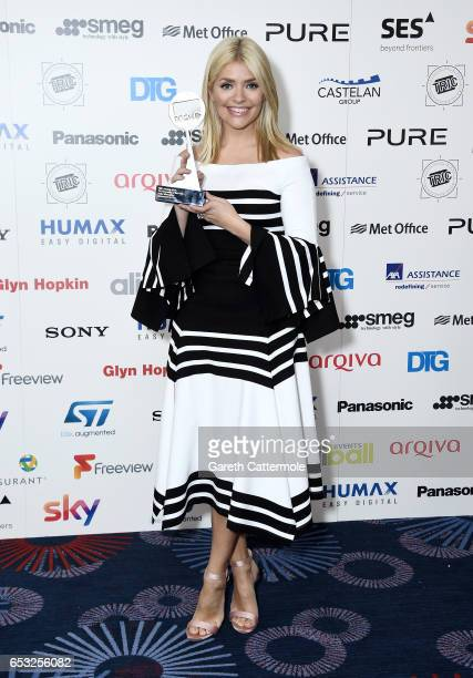 Holly Willoughby with the award for TV Personality of the Year during the TRIC Awards 2017 at the Grosvenor House Hotel on March 14 2017 in London...