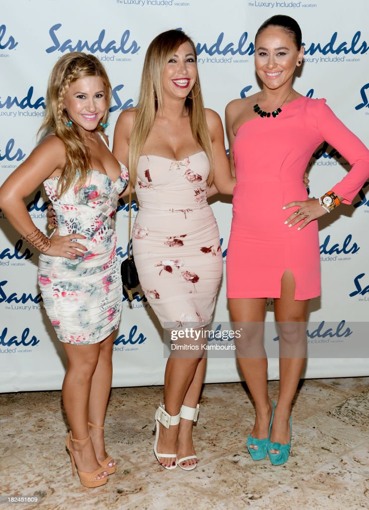 Hollyscoop co-founders Ani Esmailian, Diana Madison, and Nora Gasparian attend the Gala Dinner and Awards during Day Three of the Sandals Emerald Bay Celebrity Getaway and Golf Weekend on September 29, 2013 at Sandals Emerald Bay in Great Exuma, Bahamas.