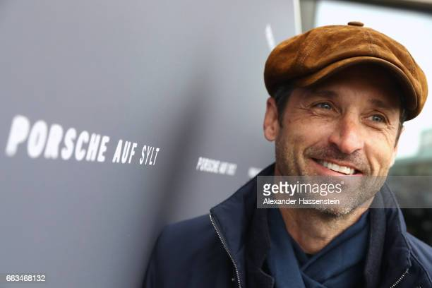 Hollywood actor and racecar driver Patrick Dempsey attends the Grand Opening of 'Porsche auf Sylt' on April 1 2017 in Westerland Germany German car...