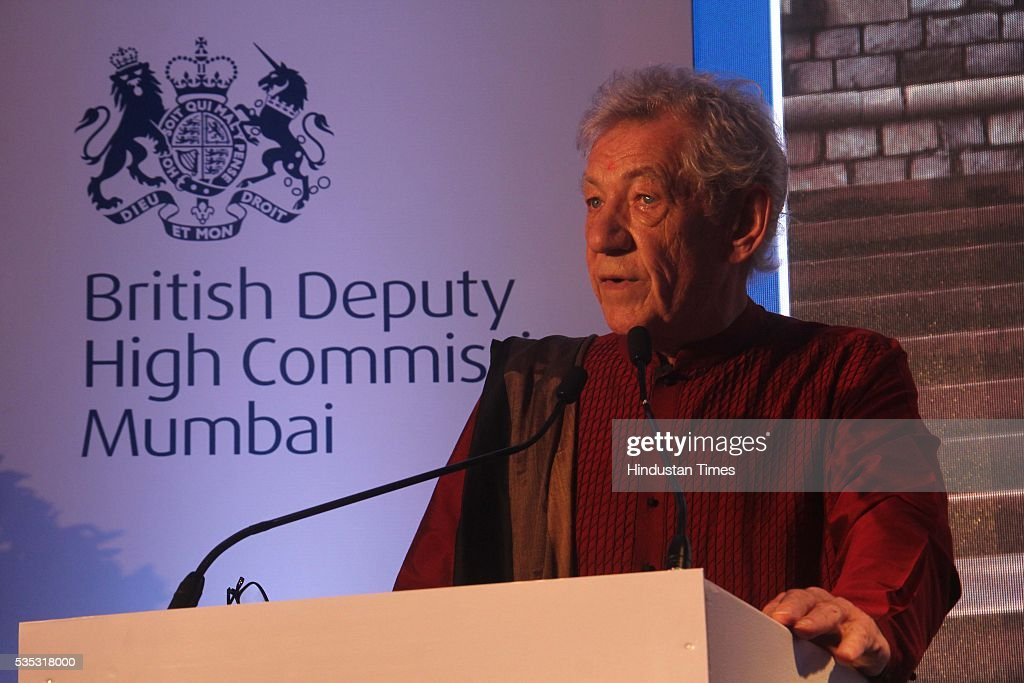 Hollywood actor Ian McKellen during the 90th birthday celebrations of Queen Elizabeth II, hosted by the British Deputy High Commissioner Shekhar Iyer, at Crystal Room, Taj Mahal Palace, Colaba on May 26, 2016 in Mumbai, India. Hollywood actor McKellen said, 'I am thankful to the British Council who got me here. It's touching to make contact with other people from theatre, film and Bollywood.'