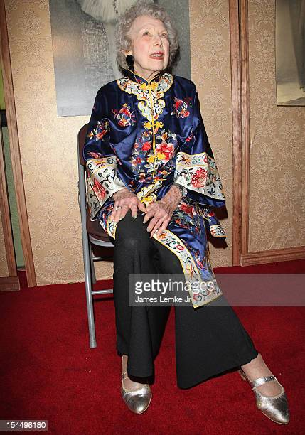 Hollywood actress Carla Laemmle celebrates her 103rd birthday at The Silent Movie Theater on October 20 2012 in Los Angeles California