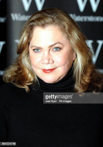 Hollywood actress Kathleen Turner promotes her latest book 'Send Yourself Roses My Life' at Waterstone's Piccadilly in central London