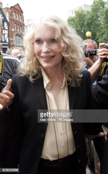 Hollywood actress Mia Farrow arrives at the Royal Courts of Justice to give evidence in the Roman Polanski v Vanity Fair libel case