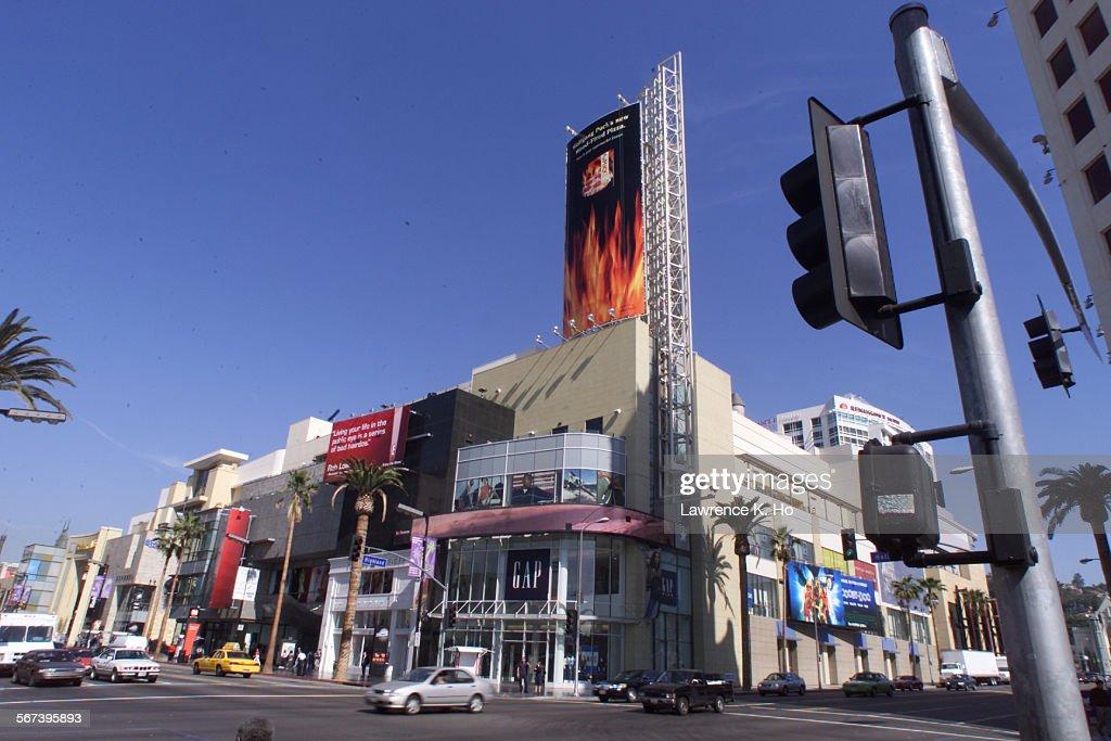 Hollywood Blvd Hollywood Calif 90028 –– Northwest corner of Hollywood Blvd and Highland Avenue in Hollywood Calif –– view of the Hollywood Highland...