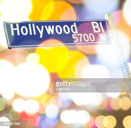 Panneau Hollywood Boulevard