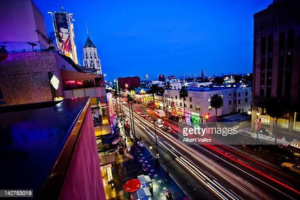 Hollywood boulevard life at blue hour!