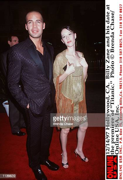 Hollywood CA Billy Zane and Jessica Murphy at the premiere of 'Titanic'
