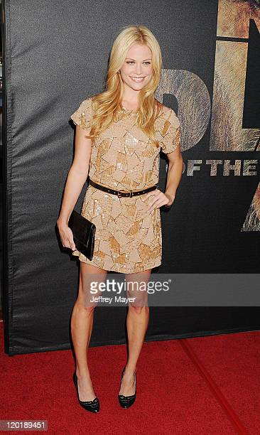 Claire Coffee arrives at the 'Rise Of The Planet Of The Apes' Los Angeles Premiere at Grauman's Chinese on July 28 2011 in Hollywood California