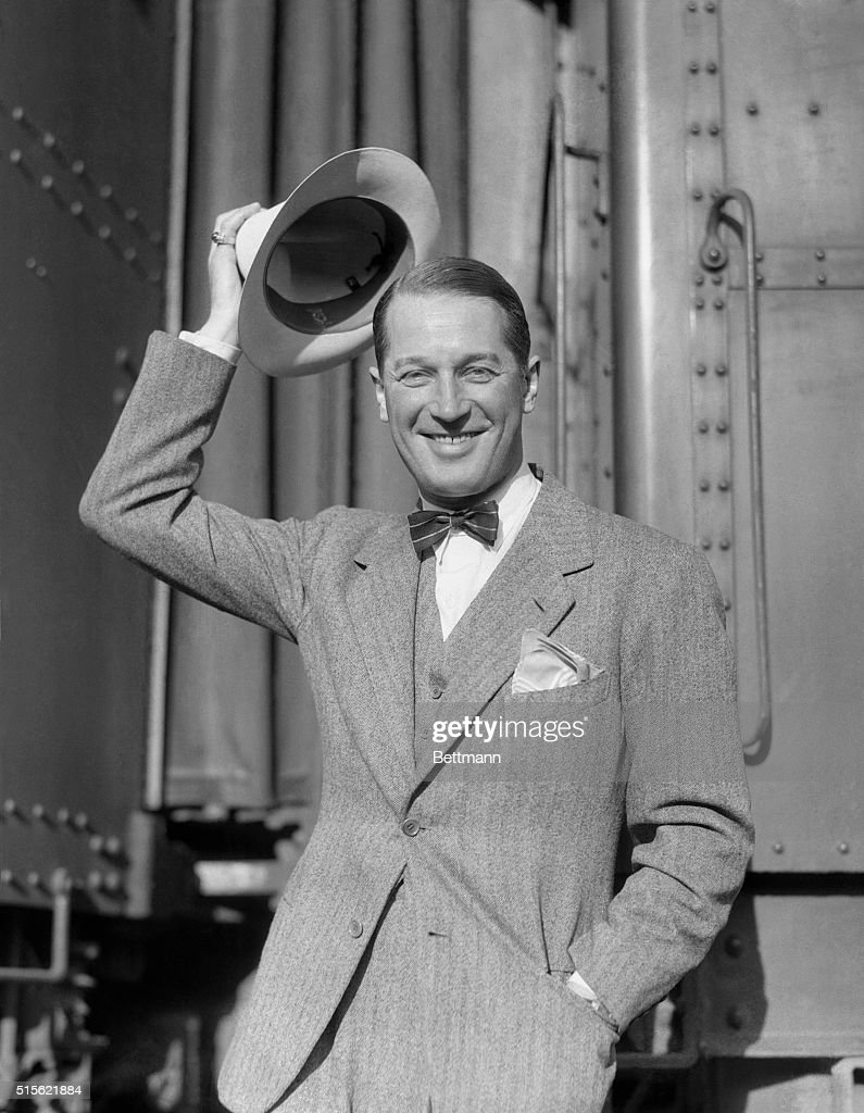 Maurice Chevalier wears a panama rather than his familiar straw sailor as he returns to Hollywood to resume his work for Paramount His next picture...