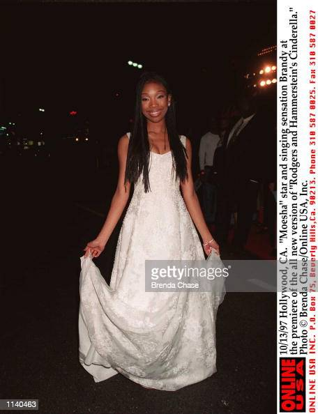 Hollywood CA 'Moesha' star and singing sensation Brandy at the premiere of the all new version of 'Rodgers and Hammerstein's Cinderella' Airs...