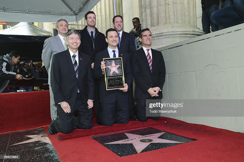 LIVE - Hollywood Chamber of Commerce honored Jimmy Kimmel with a star on the Hollywood Walk of Fame today, Friday, January 25, at 11:30 a.m. at 6840 Hollywood Boulevard in front of the El Capitan Entertainment Centre where his show resides. CHAMBER