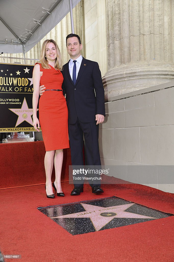 LIVE - Hollywood Chamber of Commerce honored Jimmy Kimmel with a star on the Hollywood Walk of Fame today, Friday, January 25, at 11:30 a.m. at 6840 Hollywood Boulevard in front of the El Capitan Entertainment Centre where his show resides. MOLLY