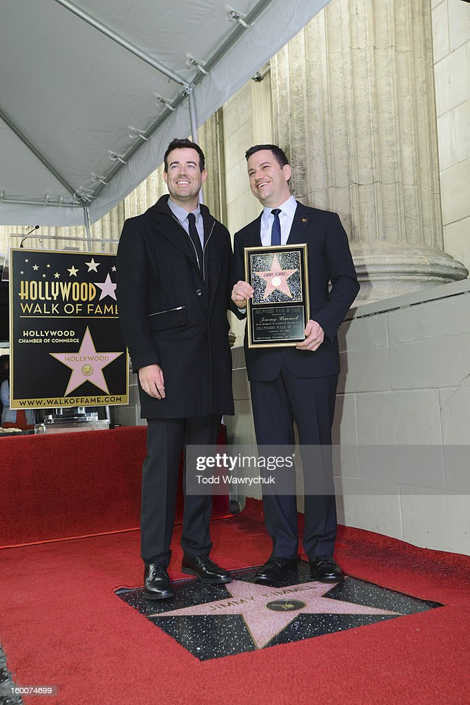 LIVE - Hollywood Chamber of Commerce honored Jimmy Kimmel with a star on the Hollywood Walk of Fame today, Friday, January 25, at 11:30 a.m. at 6840 Hollywood Boulevard in front of the El Capitan Entertainment Centre where his show resides. CARSON
