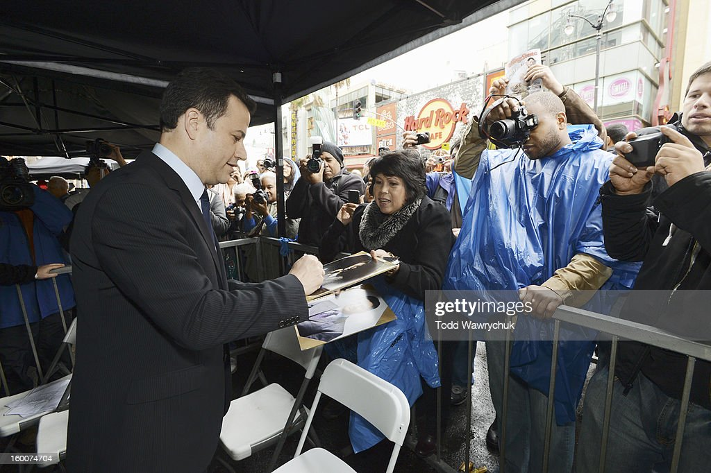 LIVE - Hollywood Chamber of Commerce honored Jimmy Kimmel with a star on the Hollywood Walk of Fame today, Friday, January 25, at 11:30 a.m. at 6840 Hollywood Boulevard in front of the El Capitan Entertainment Centre where his show resides. JIMMY